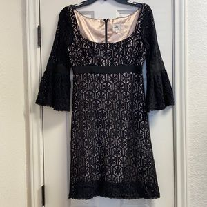 Milly of New York lace crochet dress bell sleeves